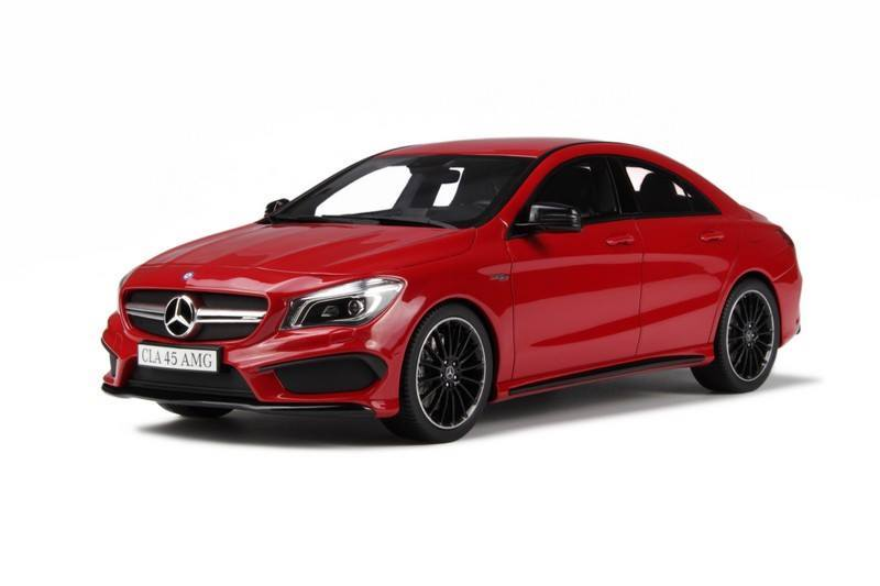 Mercedes benz cla 45 amg red droomautoos auto miniaturen for Red mercedes benz cla