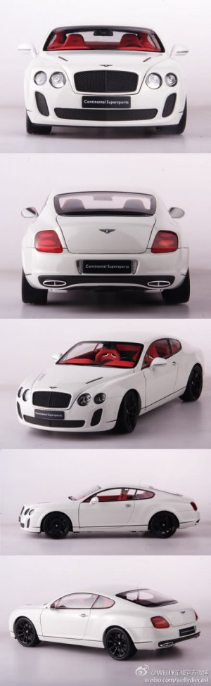 Bentley Continental Supersports 2011 creme wit