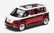 VW Bulli studie model rood wit