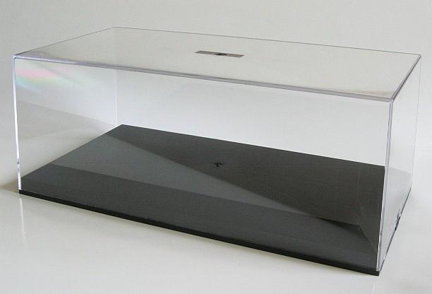 Vitrinekast Voor Modelbouw.Vitrine Box 1 18 Met Zwarte Bodem Droomautoos Auto Miniaturen